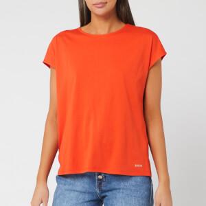 BOSS Women's Tesarah Short Sleeve Top - Bright Orange