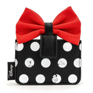 Loungefly Disney Minnie Polka Big Red Bow Cardholder