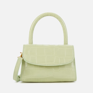 by FAR Women's Mini Croco Top Handle Bag - Sage Green