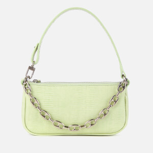 by FAR Women's Mini Rachel Lizard Shoulder Bag - Sage green
