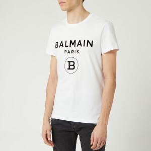Balmain Men's Small Coin Flock T-Shirt - Blanc