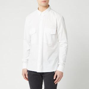 Balmain Men's Collection Fit Pocket Shirt - Blanc