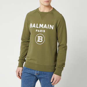 Balmain Men's Small Coin Flock Sweatshirt - Khaki