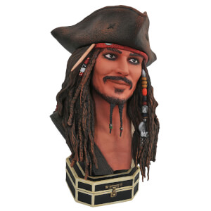 Diamond Select Legends In 3D Movie Pirates of the Caribbean Jack Sparrow 1/2 Scale Bust