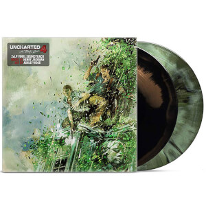 iam8bit - Uncharted 4 Video Game Soundtrack Green and Black LP Set