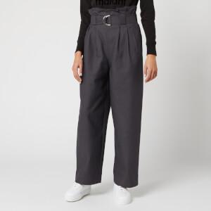 Ganni Women's Belted Trouser - Phantom