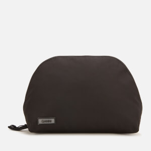 Ganni Women's Tech Fabric Cosmetic Bag - Black