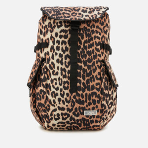 Ganni Women's Tech Fabric Backpack - Leopard