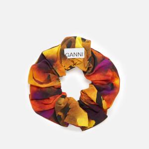 Ganni Women's Silk Mix Scrunchie - Lemon