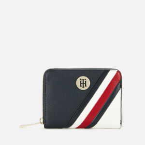 Tommy Hilfiger Women's Core Compact Zip Around Wallet - Corporate