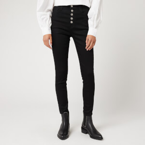 J Brand Women's Lillie High Rise Crop Skinny Jeans - Vesper Noir