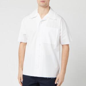 Maison Margiela Men's Ss Raw Edge Shirt - White