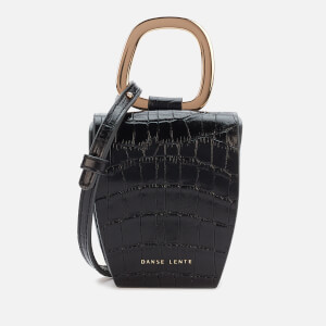 Danse Lente Women's Magnetic Box Bag - Jet Black Croc