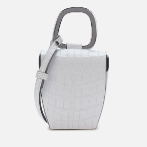 Danse Lente Women's Magnetic Box Bag - Pale Blue Croc
