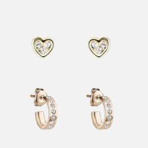 Ted Baker Women's Nelsa Nano Heart/Huggie Earrings Gift Set - Gold