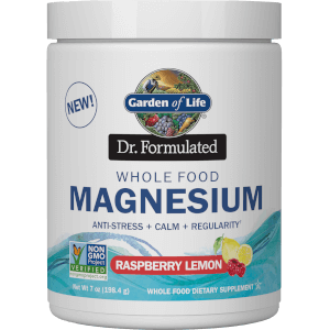 Whole Food Magnesium Powder - Raspberry Lemon - 198.4G