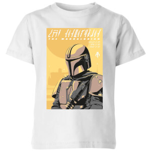 The Mandalorian Art Poster Kids' T-Shirt - White