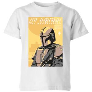 Camiseta The Mandalorian Art Poster - Niño - Blanco