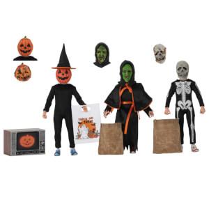 Action figure con abiti in tessuto da Halloween 3: Il signore della notte, NECA, 20 cm, confezione da 3