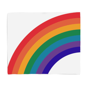 Rainbow Retro Rainbow Fleece Blanket