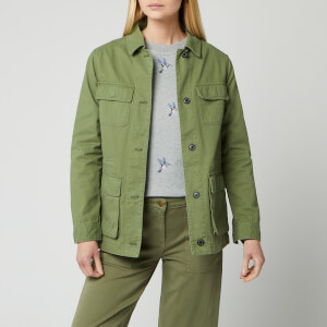 Barbour Women's Modern Country Lola Washed Casual Jacket - Bay Leaf