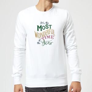 The most wonderful Sweatshirt - White