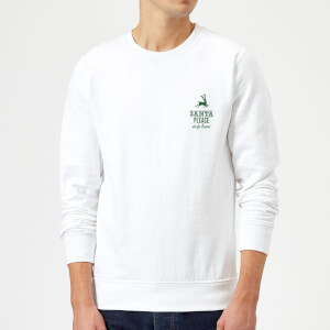 Santa stop Pocket Sweatshirt - White