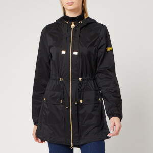 Barbour International Women's Wheelhouse Showerproof Jacket - Black/Gold
