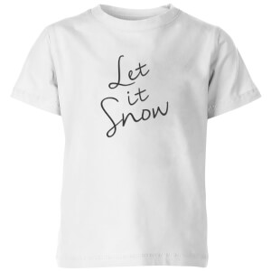 Let It Snow Kids' T-Shirt - White