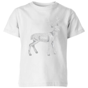 Glitter Stag Kids' T-Shirt - White