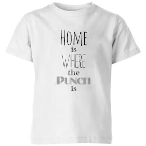 Punch Kids' T-Shirt - White