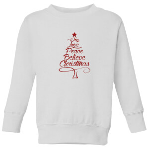 Peace at christmas Kids' Sweatshirt - White