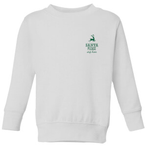 Santa stop Pocket Kids' Sweatshirt - White