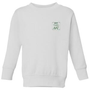 Drink merry Kids' Sweatshirt - White