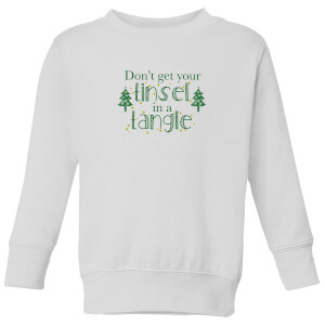 Tinsel Tangle Kids' Sweatshirt - White