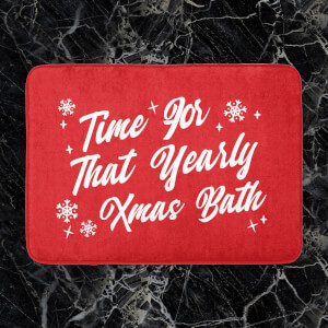 Time For That Yearly Xmas Bath Bath Mat