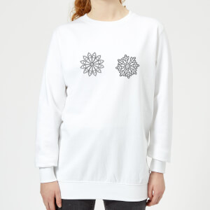 Flakes Women's Sweatshirt - White
