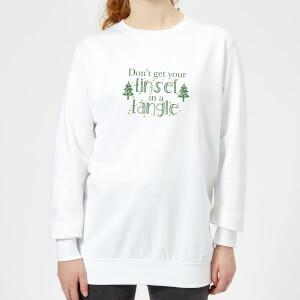 Tinsel Tangle Women's Sweatshirt - White