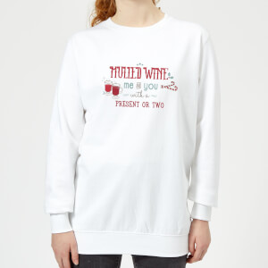 Mulled-Wine Women's Sweatshirt - White