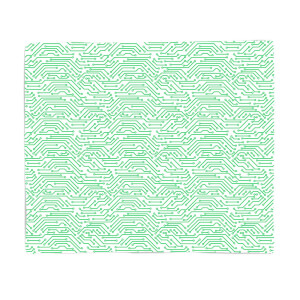 Green Motherboard Fleece Blanket