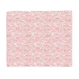 Red Motherboard Fleece Blanket