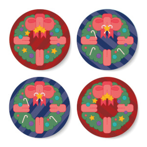 Christmas Reef Round Coaster Set