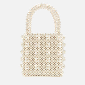 Shrimps Women's Antonia Beaded Bag - Cream