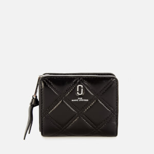 Marc Jacobs Women's The Quilted Softshot Mini Wallet - Black
