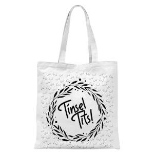 Tinsel Tits Tote Bag - White