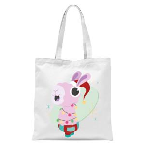 Christmas Llama Tote Bag - White