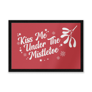 Kiss Me Under The Mistletoe Entrance Mat