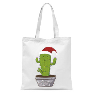 Merry Cactus Tote Bag - White