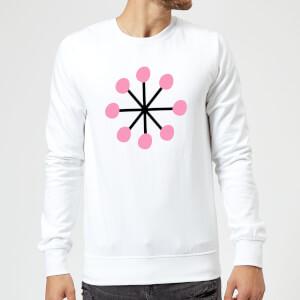 Pink Snowflake Sweatshirt - White