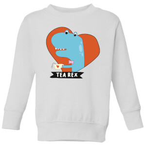 Tea Rex Kids' Sweatshirt - White